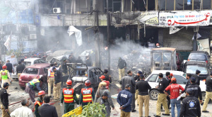 FIVE KILLED IN SUICIDE ATTACK IN LAHORE